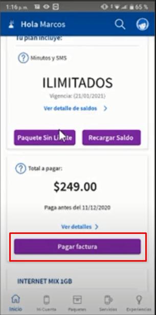 Cómo pagar la factura Telcel desde la aplicación Mi Telcel