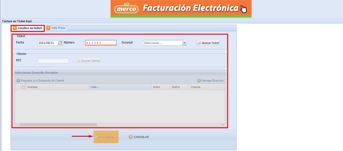 descargar la factura electronica Merco