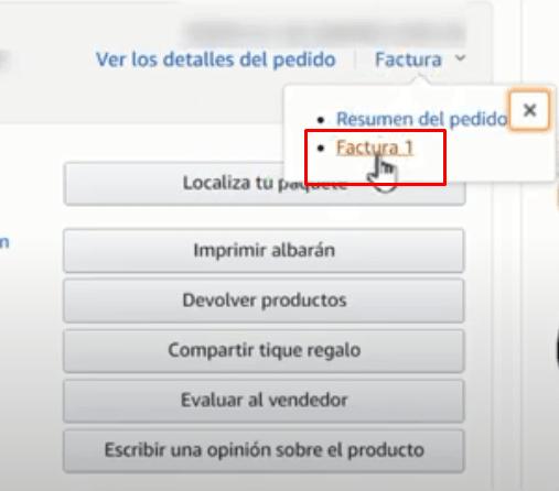 Cómo pedir la factura de Amazon online