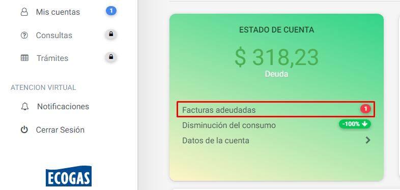Cómo pagar la factura ecogas online