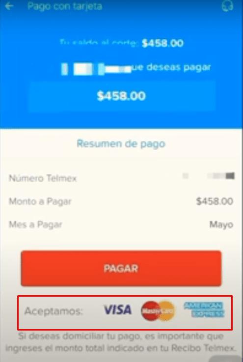 Cómo pagar recibo Telmex con la App