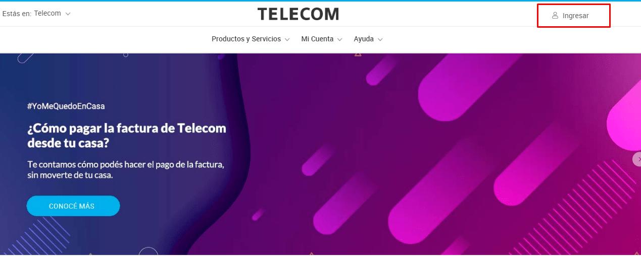 Cómo pagar telecom online
