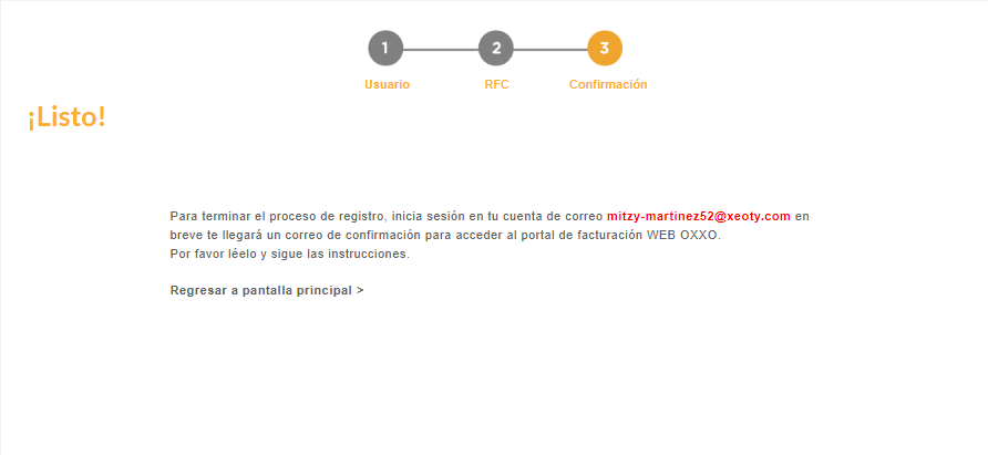Cómo registrarse en el portal de facturacion OXXO
